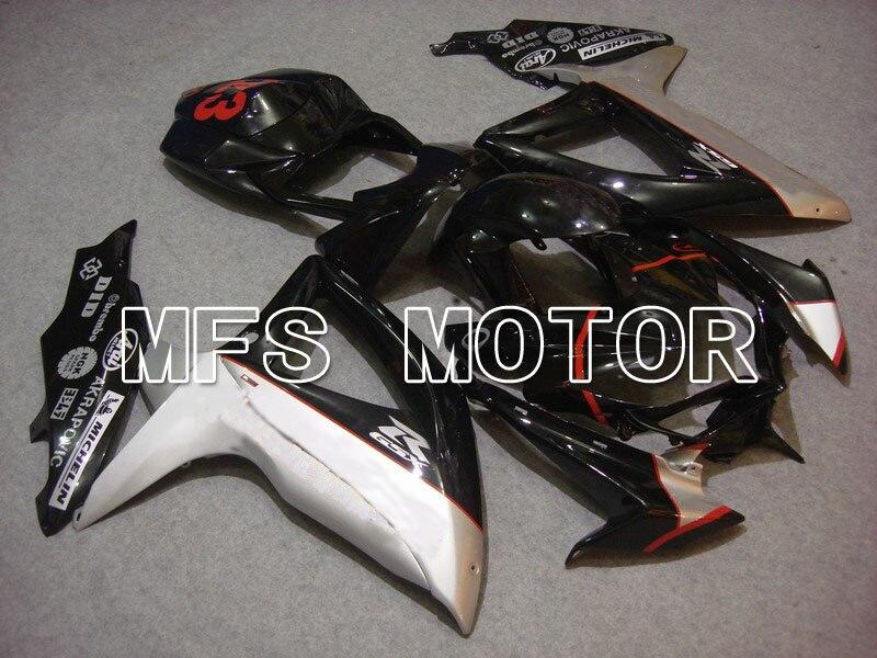 Для Suzuki системы GSX-Р 600/750 2008-2010 К8 инъекции ABS обтекатель - Иордания - черный/серебристый