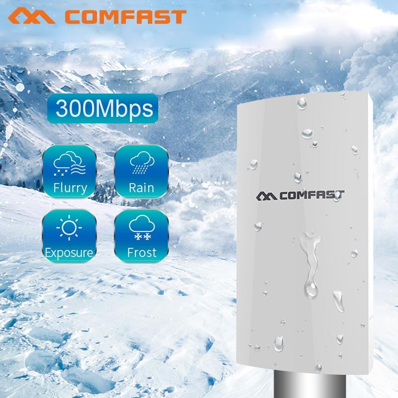 5dBi 300Mbs 2.4 Ghz Antena Outdoor CPE AP 1 km Display Digital de Ponte de Ponto de Acesso Wi-fi Roteador Sem Fio de Longo Alcance comfast E130N