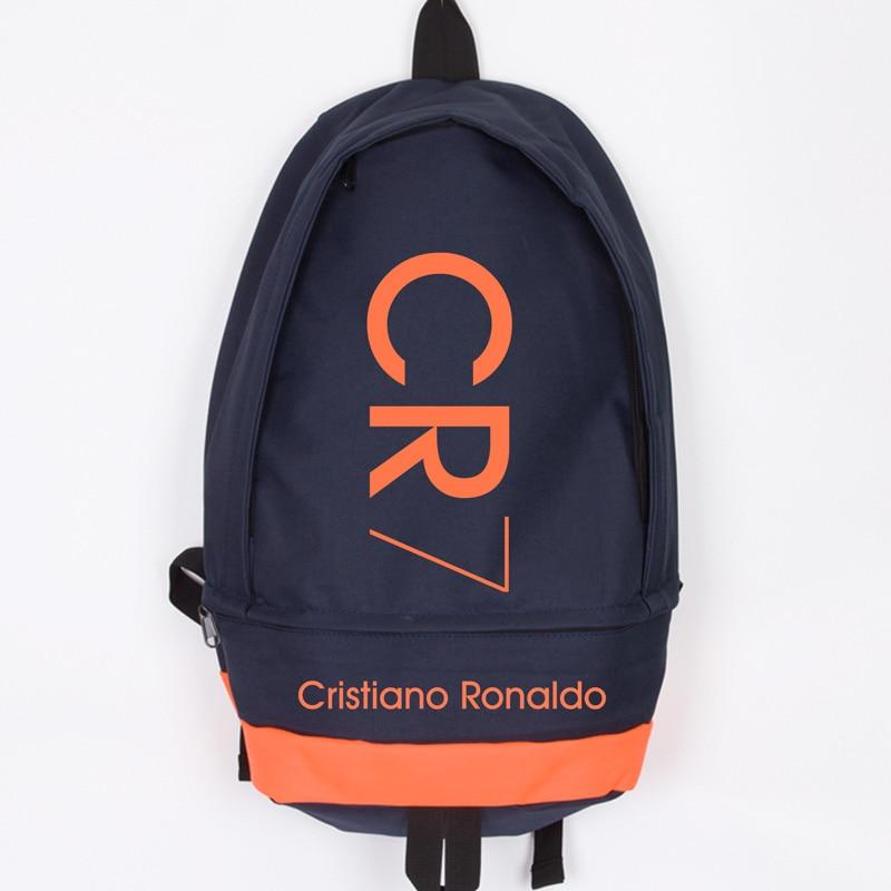 Fesyen Baru Cristiano Ronaldo Canvas Backpack Lelaki Wanita Besar Kapasiti Komputer Backpack CR7 Travel Backpack Boy Girl School Bag