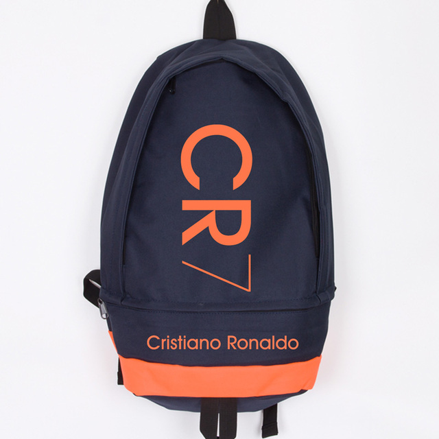 fotos oficiales f42b2 bf4c7 US $37.24 13% OFF|New Fashion Cristiano Ronaldo Canvas Backpack Men Women  Large Capacity Computer Backpack CR7 Travel Backpack Boy Girl School Bag-in  ...