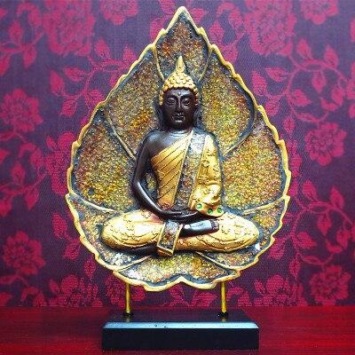 Style thaïlandais chinois asie du sud-est vieux bouddha tête décoration maison Feng Shui décoration Yoga Restaurant