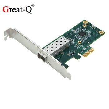 PCI Express PCIE  10/100/1000M Gigabit Ethernet Lan Fiber Server RJ45 RJ-45 network card ESXI   with intel I210 chipest