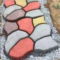 Plastic Flooring Paving Mold DIY Irregular Garden Paving Mold Pavement Mold Stone Mold DIY Walk Maker|Paving Molds| |  -