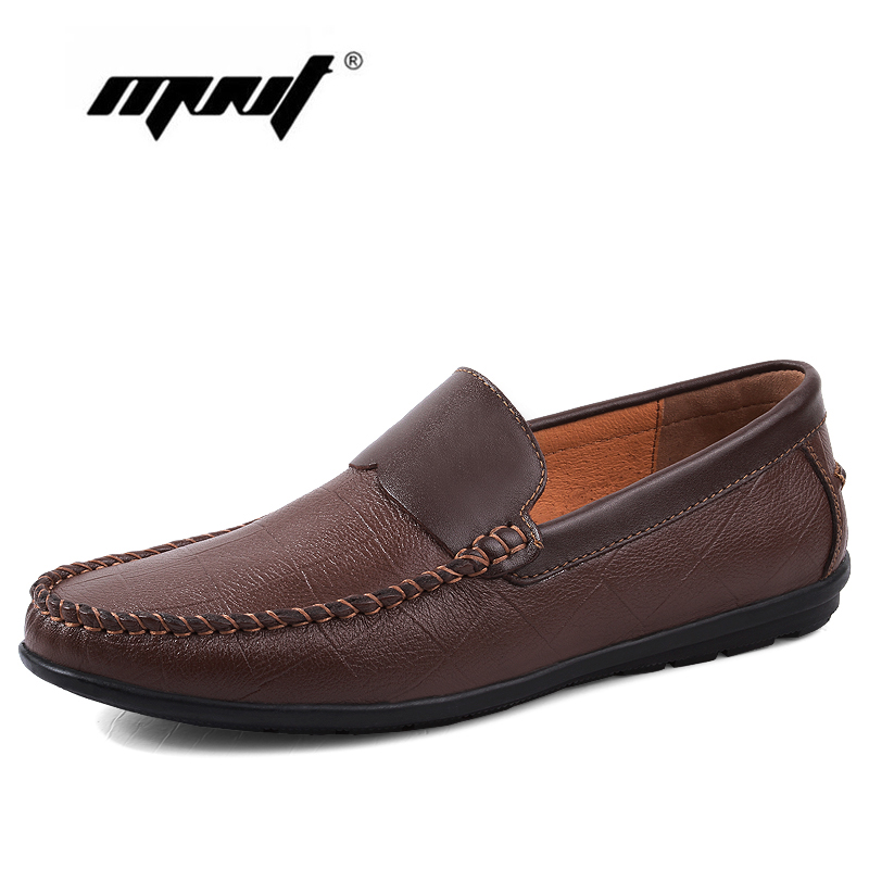 Genuine Leather Casual Shoes Fashion Men Loafers Retro Men Shoes Flats Mocassin Zapatos Hombre Breathable Driving Shoes npezkgc brand best quality genuine leather men flats casual shoes soft loafers comfortable driving shoes men breathable shoes