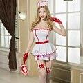 Marca Top Grade Vestidos de Enfermeira Coverall Enticement Sexy Chrismas Sexy Lingerie Hot Médicos Enfermeira Trajes Cosplay S6236