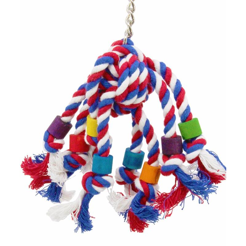 Parrot Toy Pet Bird Chew Rope Funny Bite Resistant Colorful Rope Creative Interactive Bird Cage Toy Bird Toy Claw Grinding Bird