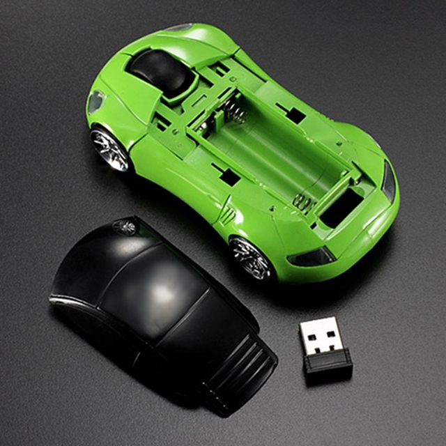 Mini 2.4Ghz 1600DPI 10m Wireless Mouse Car Shape Multicolor USB LED Optical Mouse Mice Gamer Peripherals For PC Laptop Notebook
