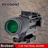Brobest 1 3x28 прицел желтый горит дальномер Сетка воздуха Охота Сфера для охотничьих ружей AO3033