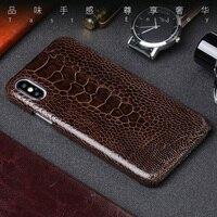 Из натуральной кожи чехол для телефона для samsung Galaxy S7 край S8 S9 плюс Примечание 8 чехол натуральный страуса стопы чехол для A3 A5 A7 2017 крышка