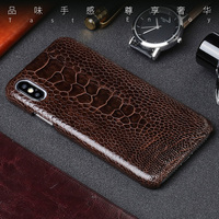 Genuine Leather phone case For Samsung Galaxy S7 Edge S8 S9 Plus Note 8 case Natural Ostrich Foot Skin For A3 A5 A7 2017 cover