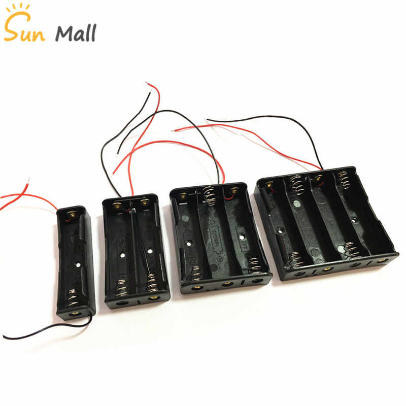 1pcs 18650 Power Battery Storage Case Box Holder Leads With 1 2 3 4 Slots drop shipping