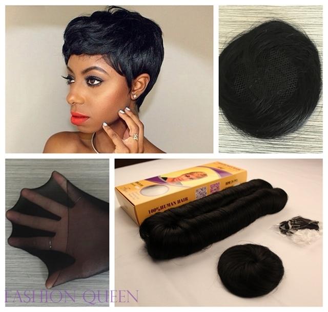 6pcs 27 Pieces Short Hair Weave Short Bump Hair Extension For