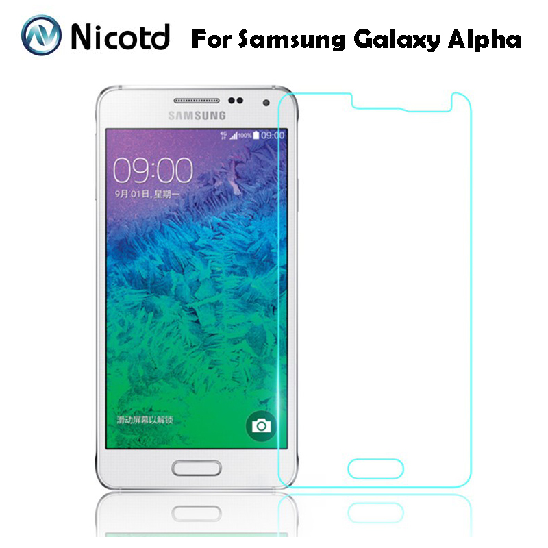 0.26mm Screen Protector Explosion-Proof On Phone 2.5D Tempered Glass Film For Samsung GALAXY Alpha G850 G850F G8508 G8508S G8509