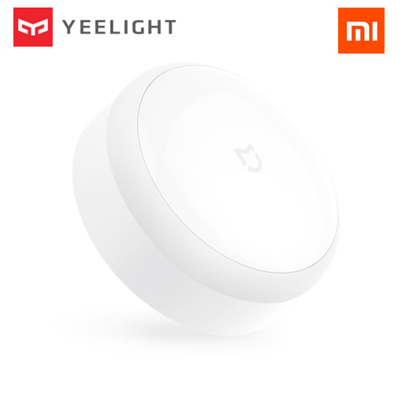 Original Xiaomi mijia Yeelight LED night light Infrared Remote Control human body Motion sensor For xiaomi Mi home Smart home original xiaomi yeelight led smart bulb colorful e27 9w 600 lumens mijia light xiaomi smart phone wifi remote control