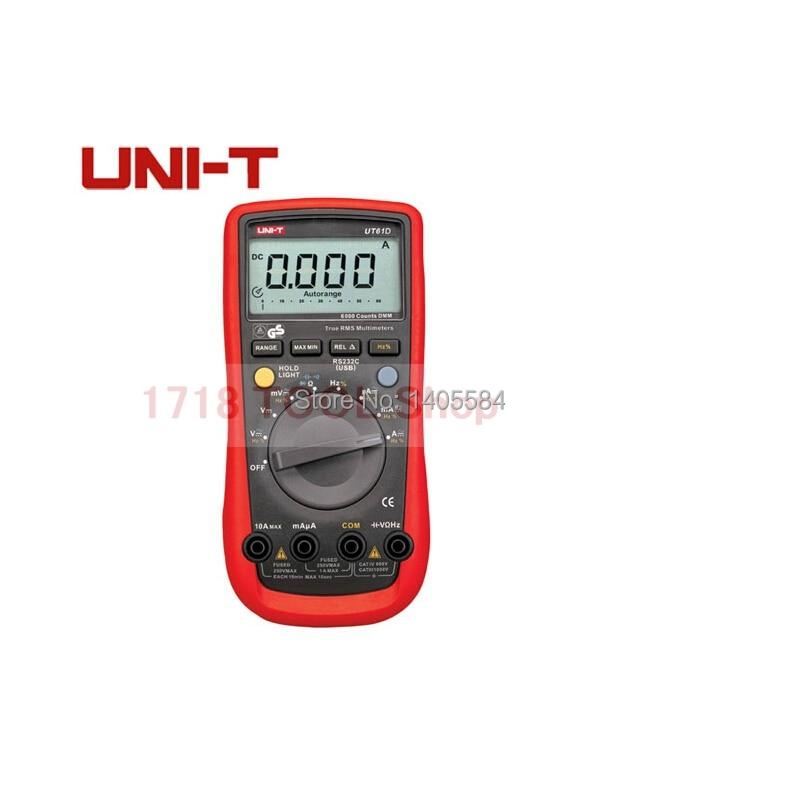 UNI-T UT61D Handheld Digital Multimeter Sinometer UT61D Auto-ranging AC/DC Digital Multimeters  детектор sinometer ts 72