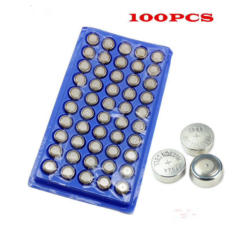 100Pcs AG13 High Volume Button Cell Battery 303 LR44 357A A76 SR44SW SP76 RW82 RW42 L1154 Long Lasting Watch Toys Free Shipping