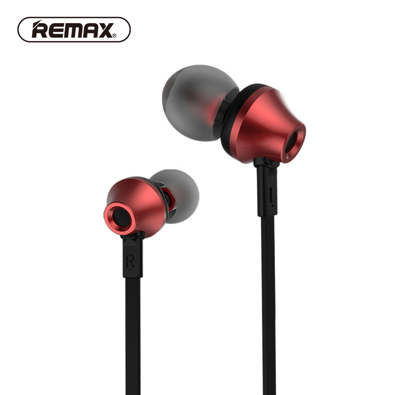 Remax RM-610D Stereo Music In-ear Metal Earphones Super Clear Noise Isolating Earphone with Mic earbuds for Mobile Phone honsigogo metal bluetooth earphone magnet wireless in ear earpiece sport stereo music earphones with hd mic for mobile phones