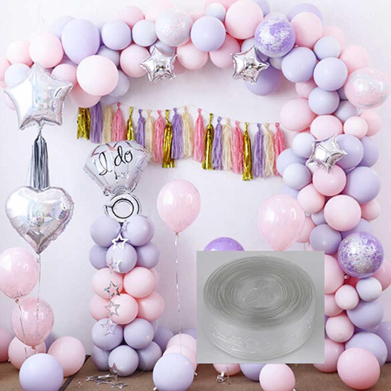 5 メートル/ロール透明 PVC ゴムチェーン気球アーチチェーン Birhday パーティー Diy 用品結婚式の装飾ヘリウムラテックス風船