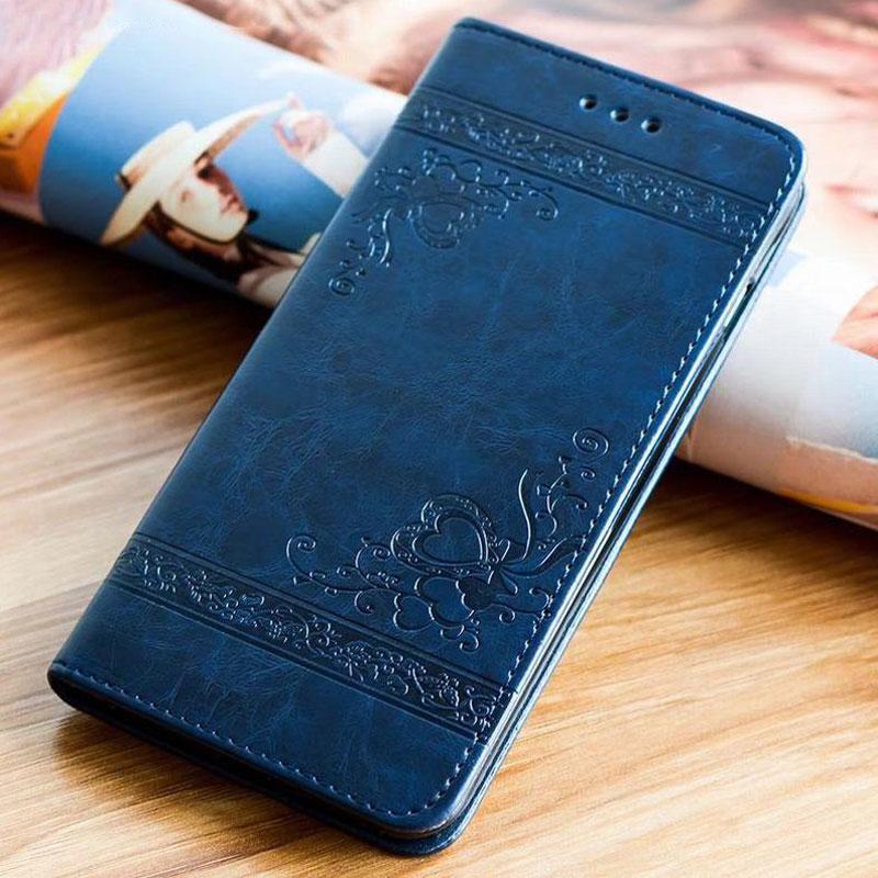 En relief Flip Housse Portefeuille pour Samsung Galaxy A5 A7 A3 2017 Cas étui en cuir à rabat magnétique pour Samsung A3 A5 2016 A50 A30 A70 M10