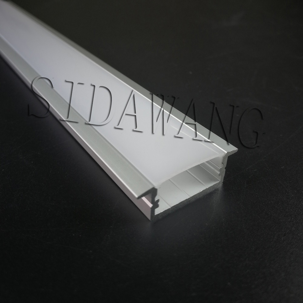 2000mm set 12meter to 100meter pack Recessed mount aluminum u channel profile 20mm for double row