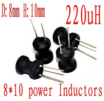 DIP Power Inductor 8*10mm 220uh 221 Radial Lead Inductor 8mm*10mm 220UH 500pcs/lot