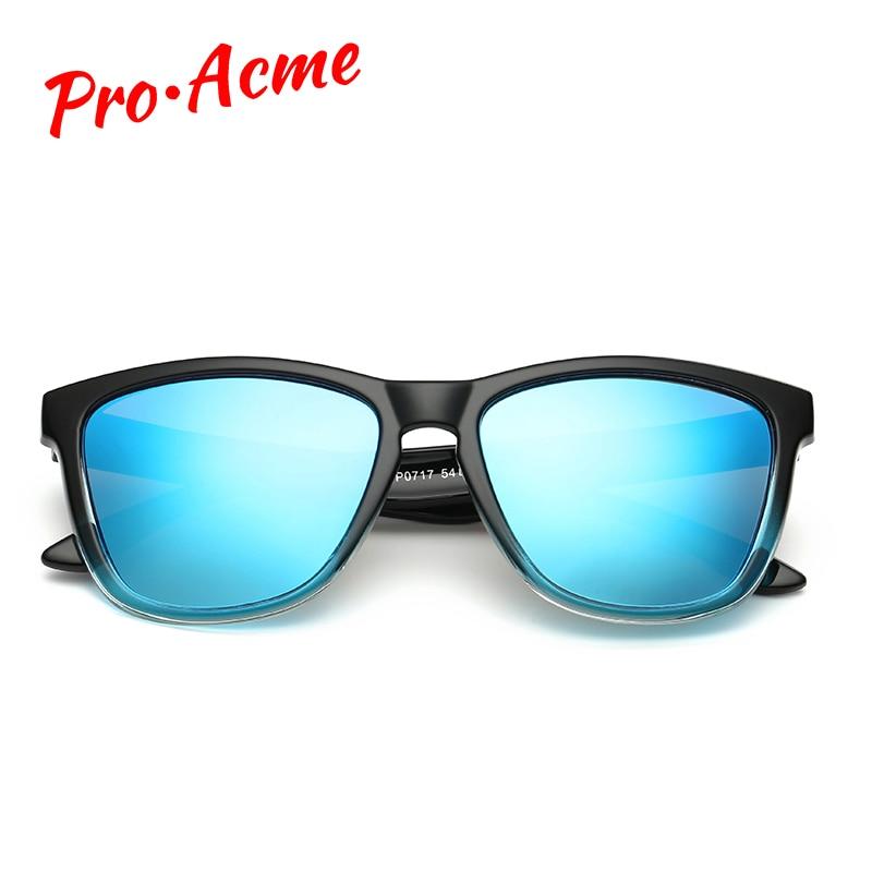Pro Acme Polarized Sunglasses Men Famous Brand Mirror Lens Square Eyewear Women Sun Glasses Coating Driving Shades De Sol CC0806