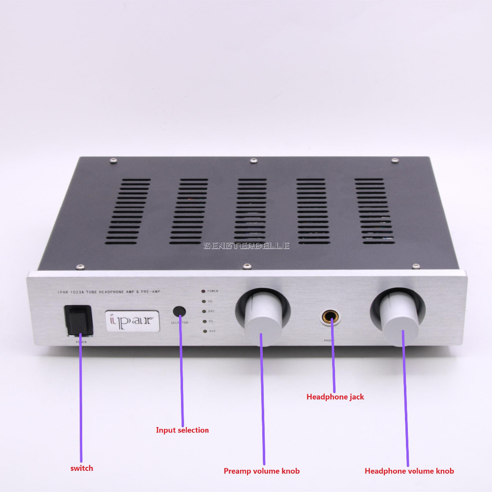 Ipar 1023A amp HiFi vacuum tube preamplifier impedance matching: 10 ohms 600 ohms 115V / 230 available