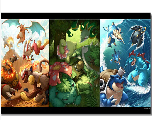 High Quality Pokemon HD Cartoon Wall Decals Poster X Inches - Wall decals hd