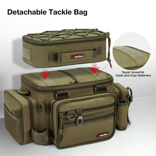 Large Cpacity Fishing Tackle Box Bag Multifunctional Portable Fishing Bag Outdoor Hiking Camping Bag