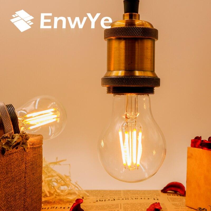 EnwYe Retro Edison Light Bulb 4W E27 E14 220V A60 G45 C35 Retro Tungsten Filament Lamp Incandescent Bulb Edison Lamp