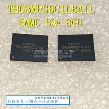 1PCS 2PCS 5PCS 10PCS THGBMFG6C1LBAIL BGA THGBMFG6C1 8G de armazenamento Novo e original