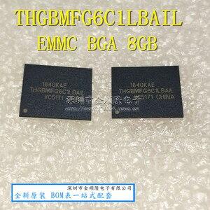 Image 1 - 1PCS 2PCS 5PCS 10PCS THGBMFG6C1LBAIL BGA THGBMFG6C1 8G אחסון חדש ומקורי