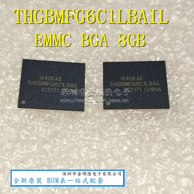 1PCS 2PCS 5PCS 10PCS THGBMFG6C1LBAIL BGA THGBMFG6C1 8G אחסון חדש ומקורי