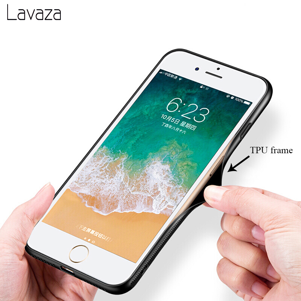 Lavaza Sun Sea Bird Tempered Glass Case for Apple iPhone 6 6s 7 8 Plus X 5 5S SE Cover for iPhone XS Max XR in Fitted Cases from Cellphones Telecommunications