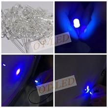 100 adet 5mm Ultraviyole 395nm 400nm UV LED Diyot Işık Yayan Lamba 5mm UVLED (Ultra Menekşe Mor 5mm Yuvarlak Su Şeffaf Lens)