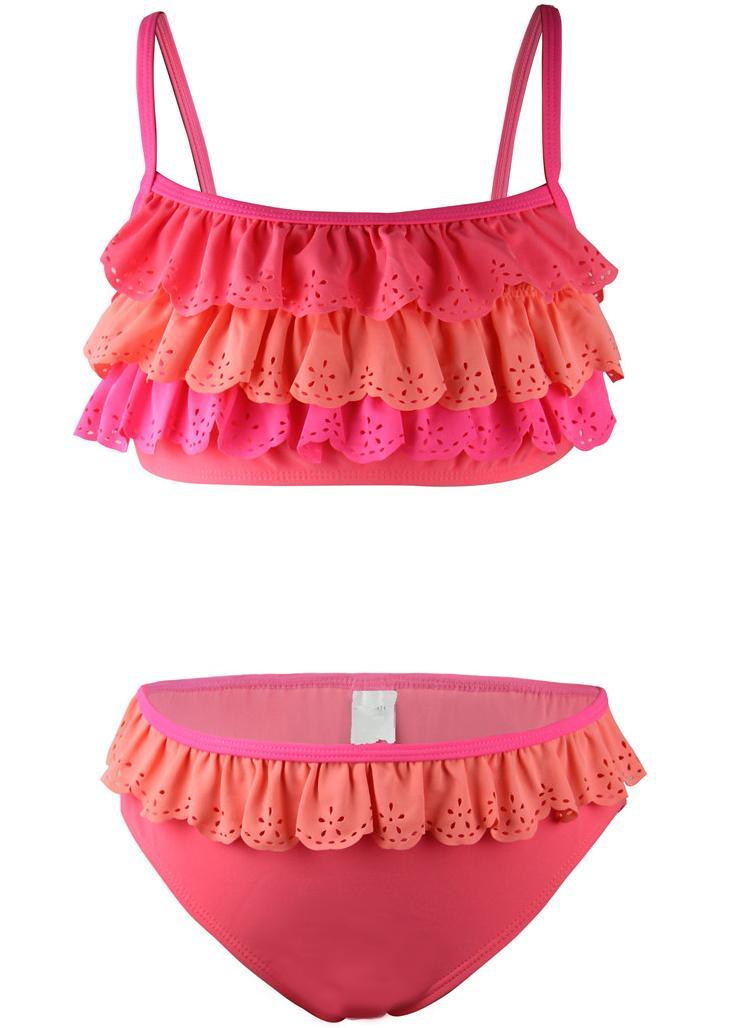 Juli sand flicka barn tvådelade bikinis uppsättningar med ruffle - Sportkläder och accessoarer