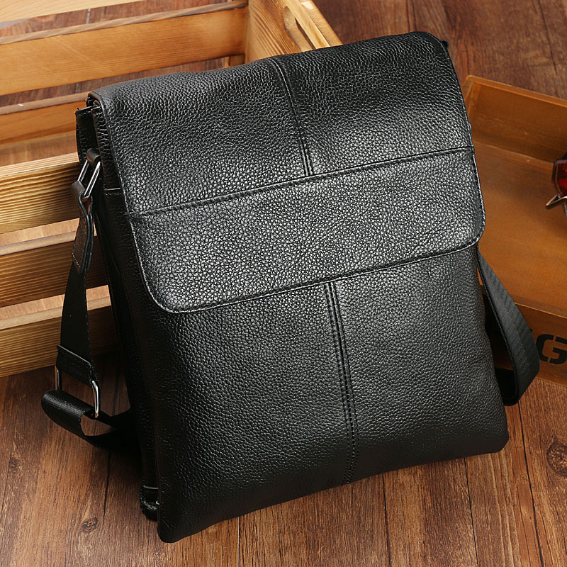 Real Leather Bag Men Briefcase Maletin Hombre Portfolio Work Bag Business Brief Case Thin Small Shoulder Bag Bolso Hombre Cover in Briefcases from Luggage Bags