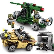 Empires Of Steel Military Soviet 63K anti-aircraft gun Amphibious off-road vehicle Building Blocks Sets Bricks Toys for kids