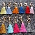 Las mujeres Del Encanto Del Bolso Colgante Llavero-Mejor Oferta de Moda Lindo Colorido de La Borla de Keychain Del Coche del Anillo Dominante Del Bolso de Seda de Hielo de Promoción regalo