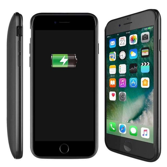 Redpepper US Commodity Inventory / For iPhone 6 6S 7 8 Plus External TPU Battery Case