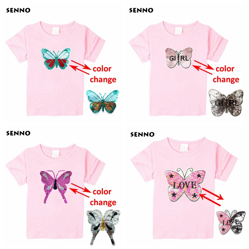68bfcd6ab ... Owl Cat Cartoon Super Hero Sequin Kids T shirt Discoloration Reversible Sequined  Tops Tee Shirts Boys Girls. 1. pink t shirt pink t shirt-2 pink t ...