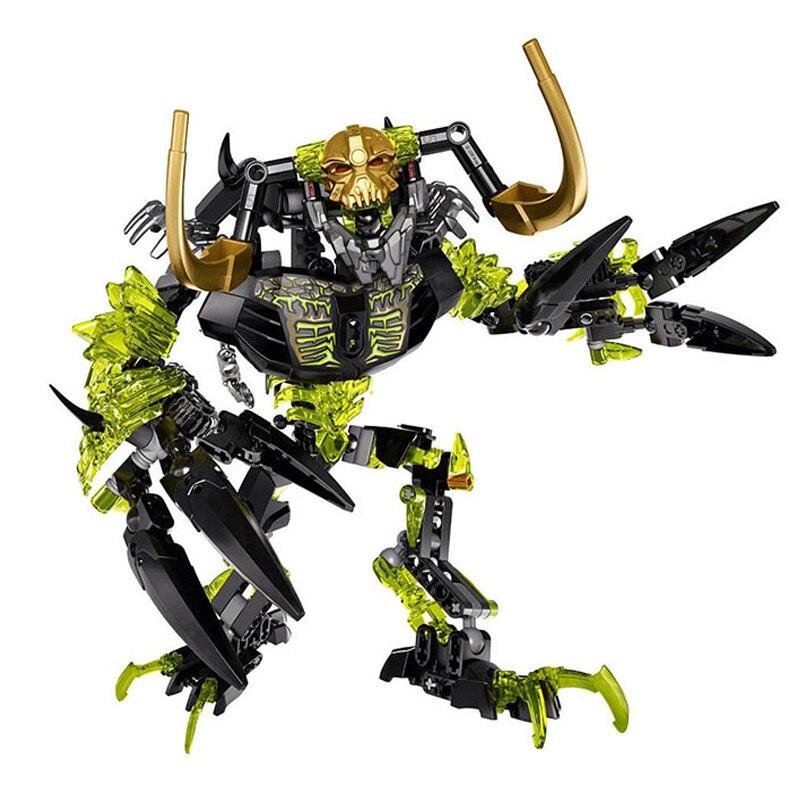 Figuras BIONICLE 191 pcs Umarak Destruidor 614 Building Block brinquedos Compatíveis Legoing BIONICLE DBP463 Presente de Natal