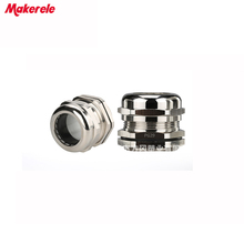 5pcs/lots PG29 Nickel Brass Metal Waterproof Cable Glands Joints IP68 cable connector for 18-25mm cable стоимость