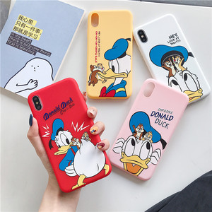 Chip n Dale Phone Case for iPhone 11 11pro 6 6s 7 8 Plus Case for iPhone X XS XS MAX Donald Duck Silicone TPU Cover Full Coque(China)