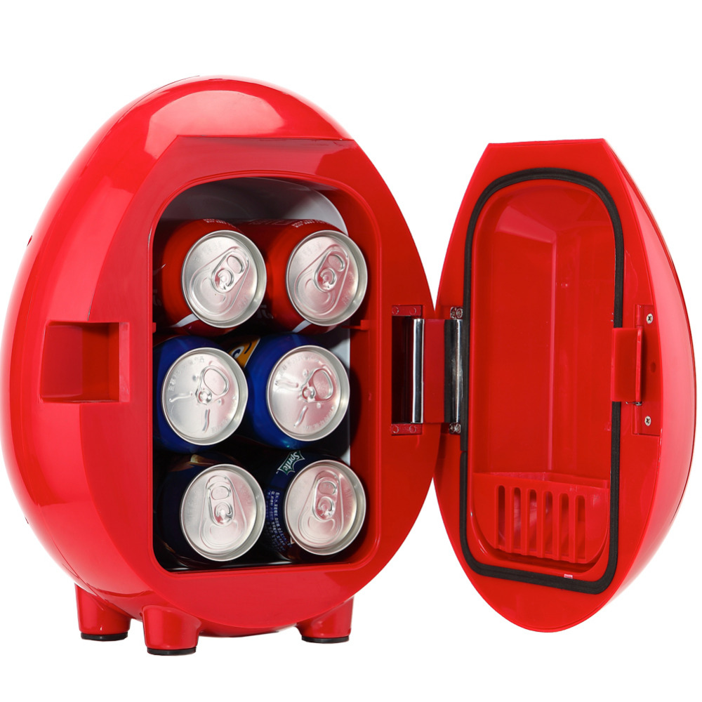 Smad DC12V 4L ABS Mini Car Cooler Warmer Thermoelectric Car Truck Refrigerator Fridge Beer Soda 6-Can Fishong Camper mini red bull cooler and warmer