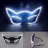 Hot Sale Led Illuminated Carnival Masquerade Party Fasion Mask LED Luminous Flashing Glasses Nightclub Costume Stage Wear