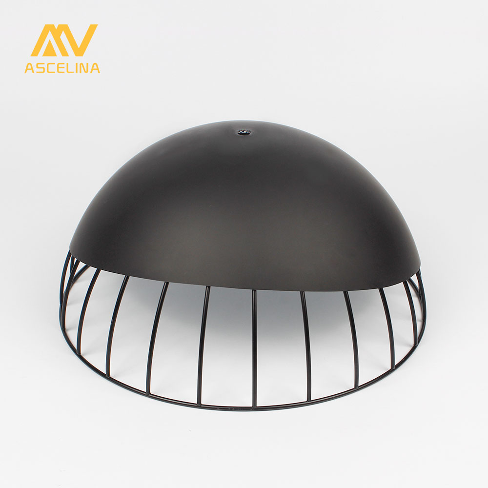 ASCELINA Lampshade Antirust lamp shade Nordic Modern Loft DIY Metal Cage lampshade for pendant light Home decoration lampshade