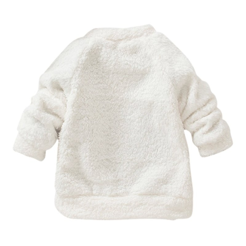 17 New Arrival Autumn winter models Children Baby Clothing Boys Girls Lovely Bear Furry White Coat Thick Sweater Warm Coat 2