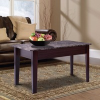 Giantex Faux Marble Lift Top Coffee Table W Hidden Storage Compartment Solid Wood Legs Home Furniture