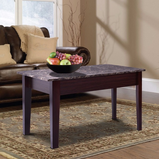 Giantex Faux Marble Lift Top Coffee Table W Hidden Storage Compartment Solid Wood Legs Home